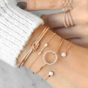 NWT Boutique Bracelet Stack in Silver and Gold